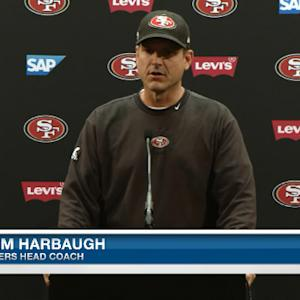 San Francisco 49ers head coach Jim Harbaugh on contract talks: 'Concentration will be on 2014'