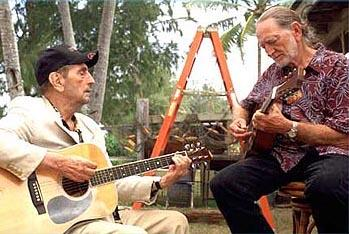 Harry Dean Stanton and Willie Nelson in Warner Bros. The Big Bounce