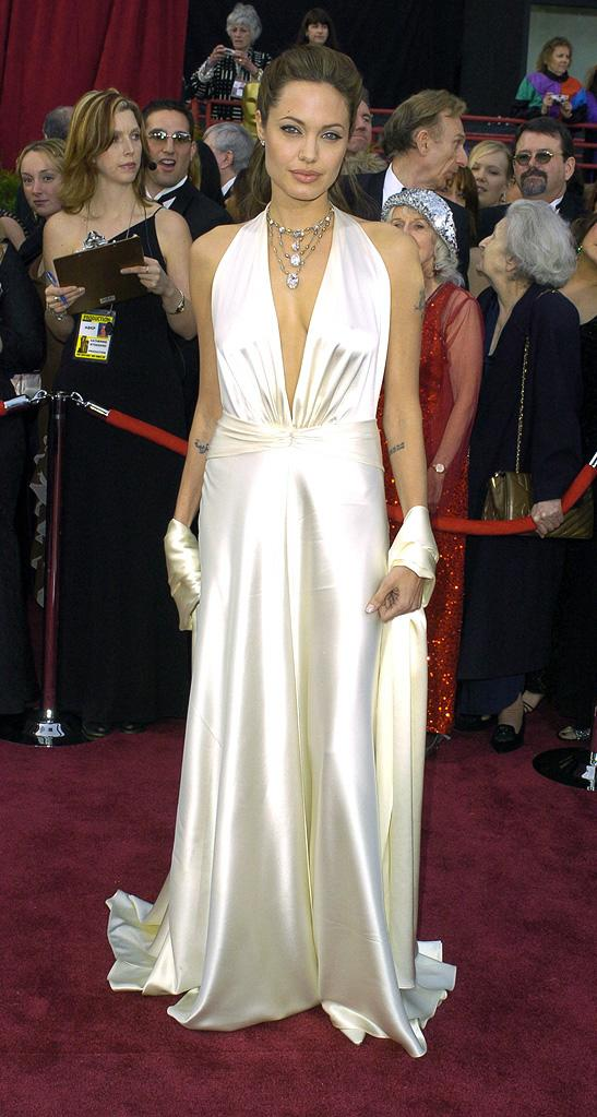 Angelina Jolie's 15 most memorable red carpet looks Oscars 2004