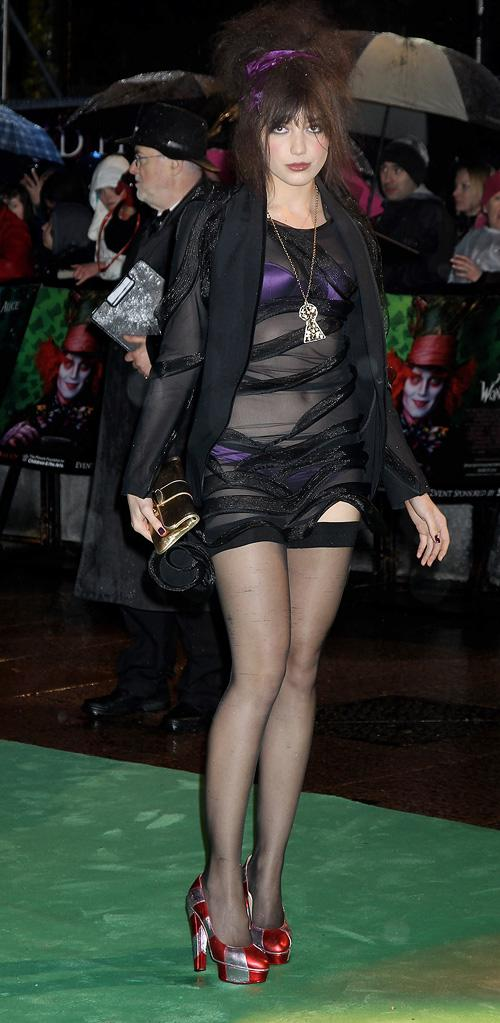 Alice in Wonderland UK Premiere 2010 Daisy Lowe