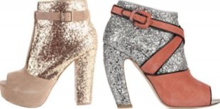 Get the look of Miu Miu's open toe glitter booties for way less.