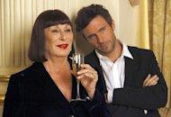 Anjelica Huston and Jack Davenport | Photo Credits: Will Hart/NBC