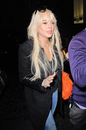 Lindsay Lohan is seen entering her Soho hotel in New York City on February 27, 2012  -- Getty Premium