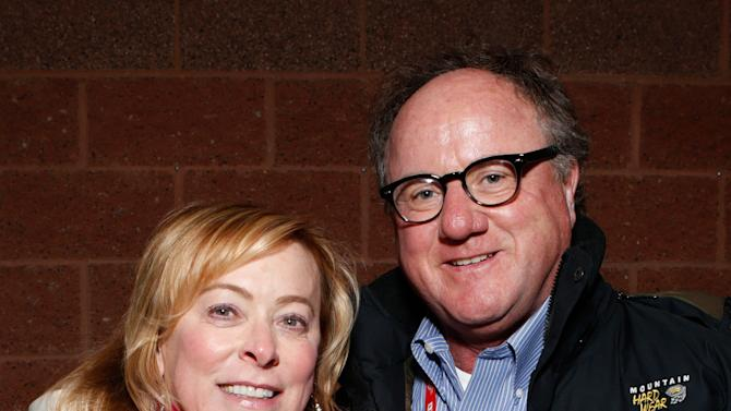 "Fox Searchlight President Nancy Utley, left, and Raymond Fitzpatrick attend Fox Searchlight's ""The East"" premiere during the Sundance Film Festival on Sunday, Jan. 20, in Park City, Utah. (Photo by Todd Williamson/Invision for Fox Searchlight/AP Images)"
