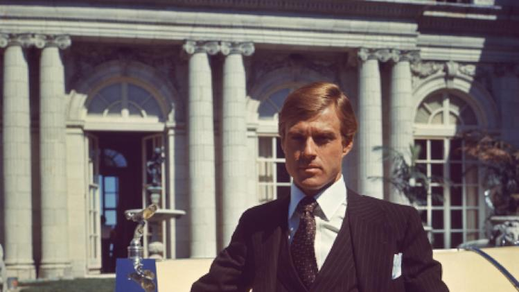 "This undated publicity photo released by courtesy of Paramount Pictures shows Robert Redford as Jay Gatsby in the 1974 film,""The Great Gatsby,"" released by Paramount Pictures. (AP Photo/Paramount Pictures)"