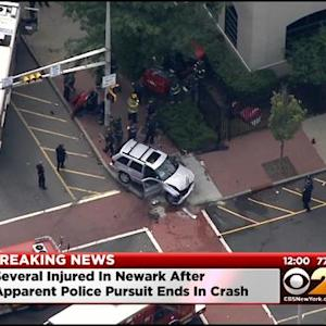 1 Person In Custody After Police Chase Ends In Crash In Newark
