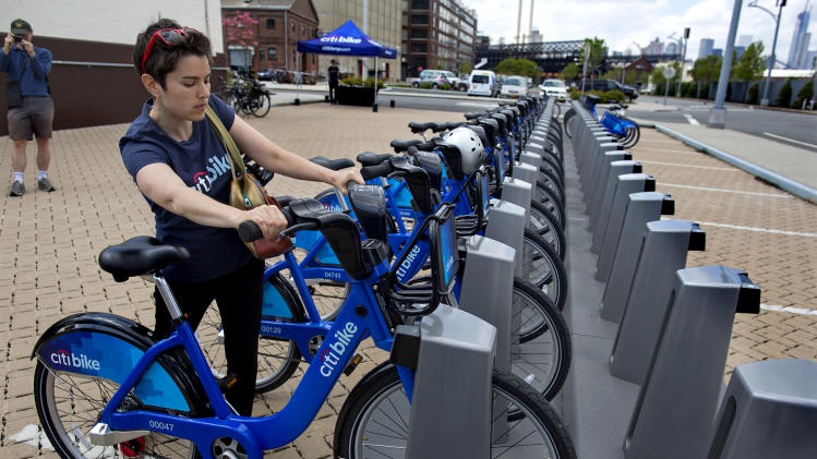 NYC holds bike-share program demonstration