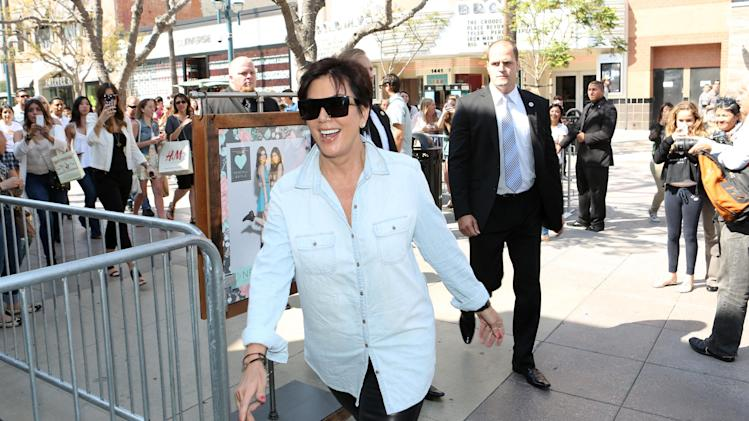 IMAGE DISTRIBUTED FOR PACSUN - Kris Jenner arrives at the launch of Kendall and Kylie Jenner's exclusive summer collection at PacSun in Santa Monica, Calif. on Friday, May 10, 2013. (Photo by Casey Rodgers/Invision for PacSun/AP Images)