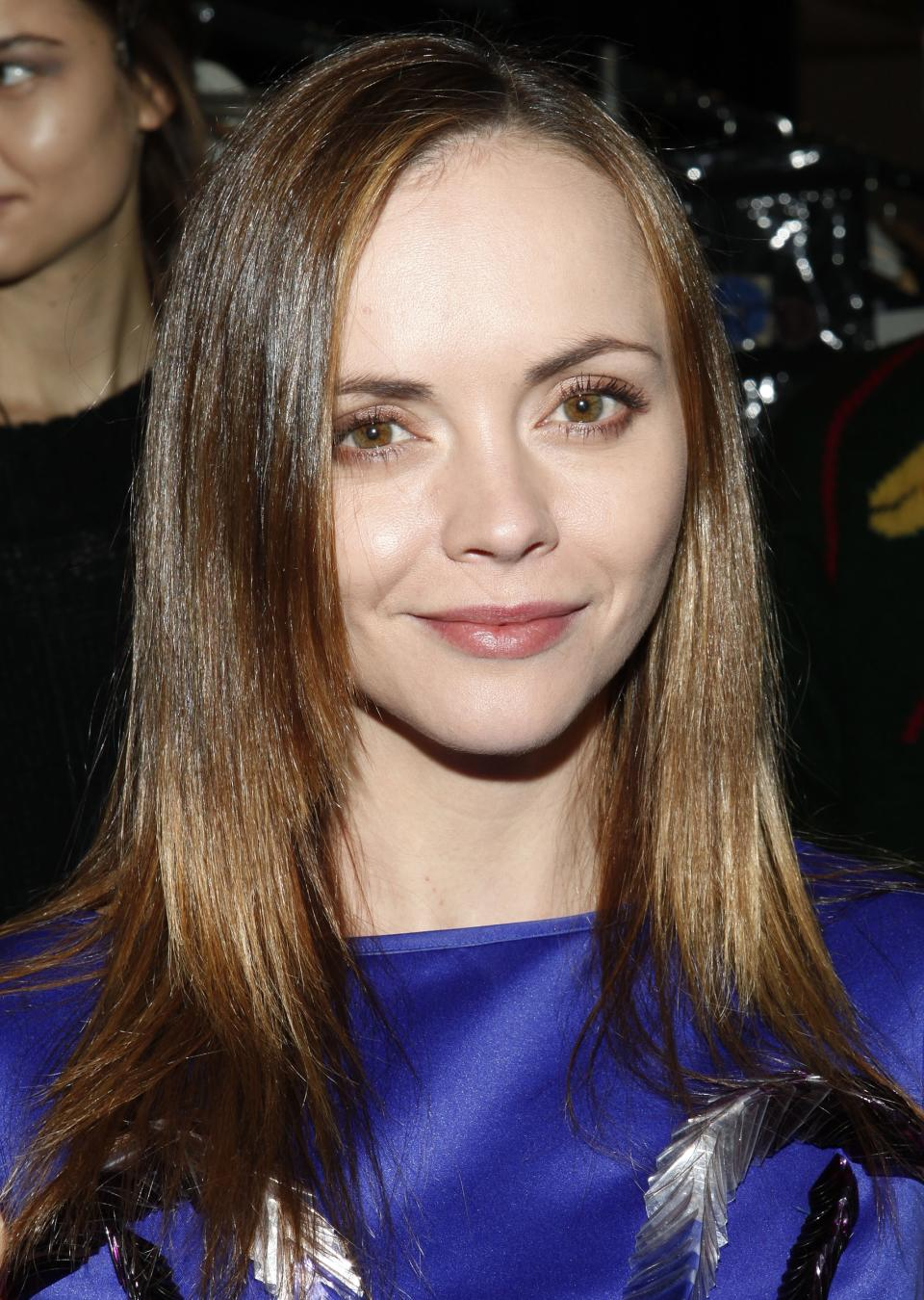 Actress Christina Ricci attends the Richard Chai Fall 2013 fashion show during Mercedes-Benz Fashion Week at The Stage at Lincoln Center on Thursday, Feb. 7, 2013 in New York. (Photo by Amy Sussman/Invision/AP)