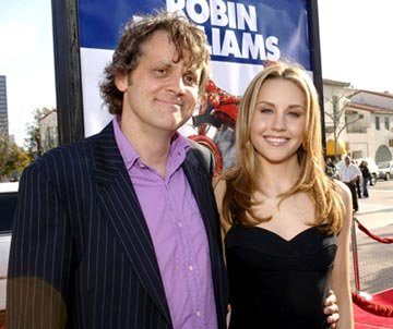 Director Chris Wedge and Amanda Bynes at the Westwood premiere of 20th Century Fox's Robots