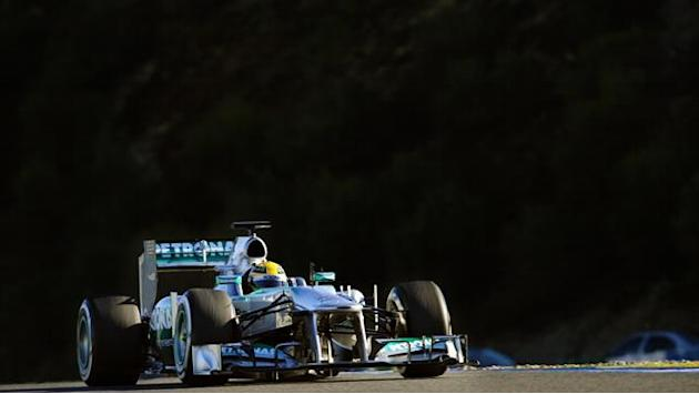 Formula 1 - Hamilton tops rain-hit final morning in Barcelona