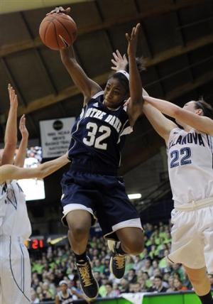 McGraw wins 700th as Notre Dame women top Nova