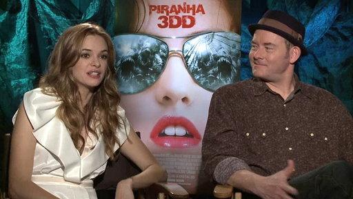 Piranha 3DD: David Koechner and Danielle Panabaker