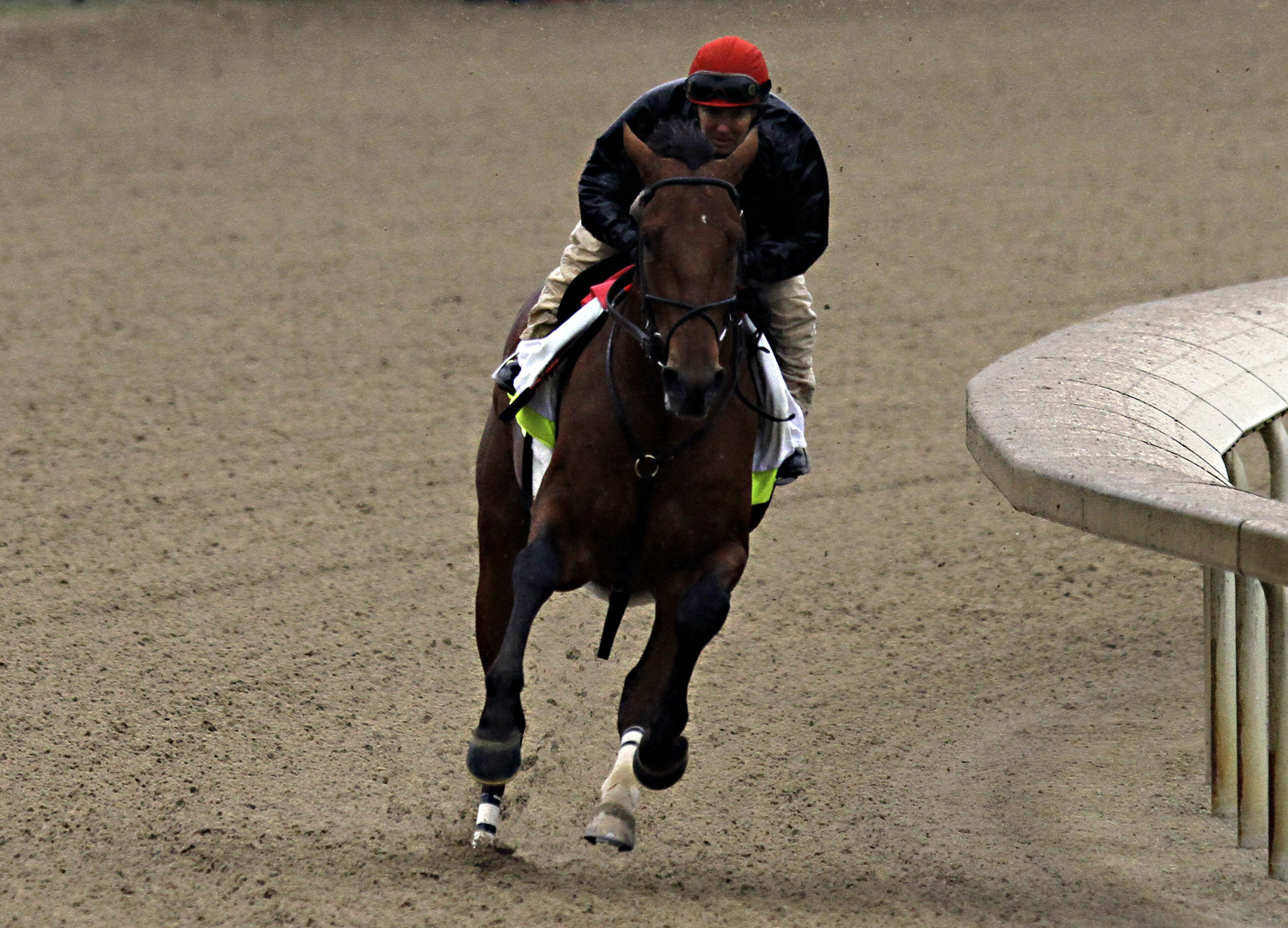 Several Kentucky Derby hopefuls get workouts in before rain