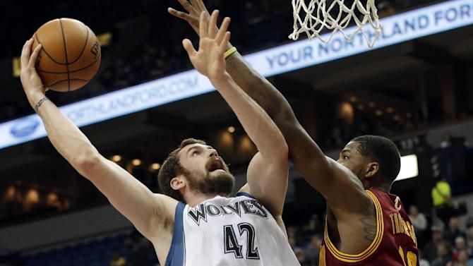Love, Timberwolves rip Cavs 124-95