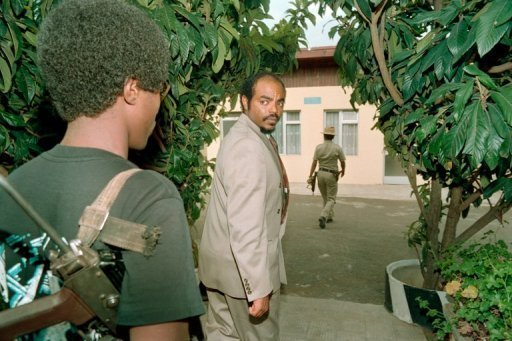 Meles Zenawi seen arriving in Addis Ababa after seizing the capital in 1991
