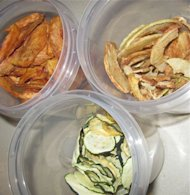 Dried fruits and vegetables for after school snacking