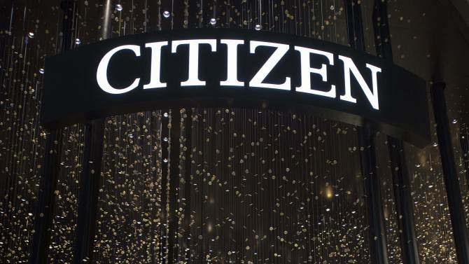 View of the Citizen booth pictured on the press day at the world watch and jewelry show Baselworld in Basel, Switzerland, on Wednesday, April 24, 2013. Baselworld opens it's doors from April 25 to May 2, 2013. (AP Photo/Keystone, Georgios Kefalas)