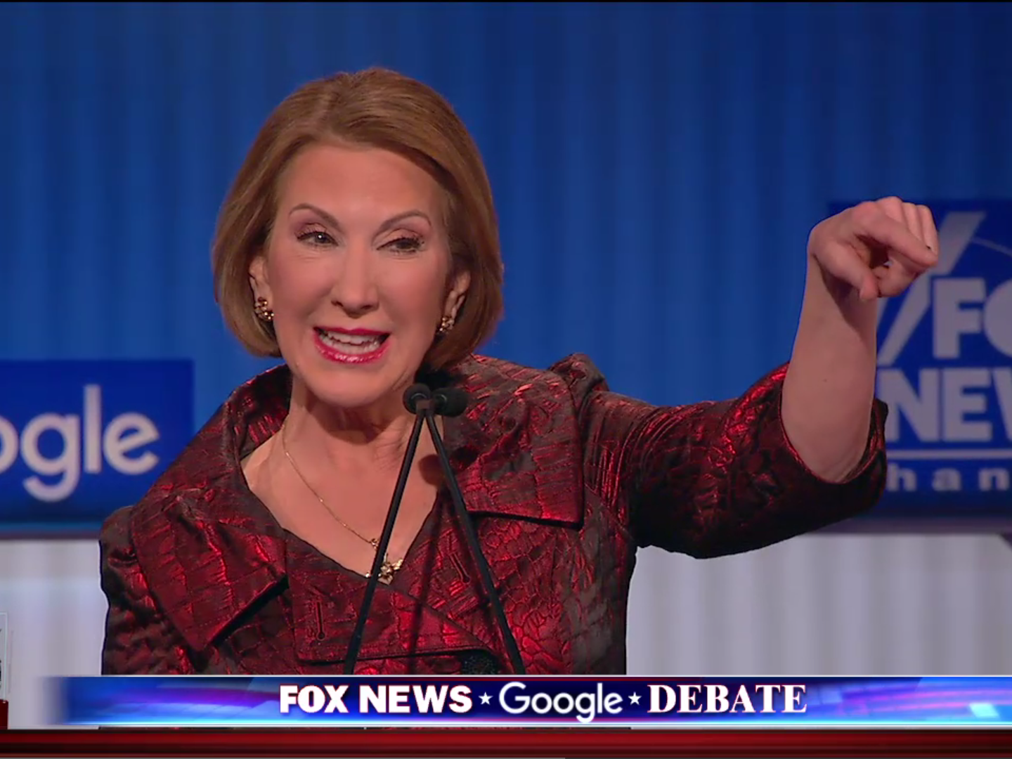 Carly Fiorina unleashes a litany of zingers against Hillary Clinton at Fox News debate