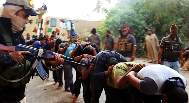 CLICK IMAGE for slideshow: An image uploaded on June 14, 2014 on the jihadist website Welayat Salahuddin allegedly shows militants of the Islamic Stat...