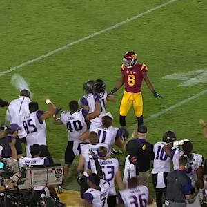 Highlight: Washington's Brayden Lenius hauls in catch around USC defender