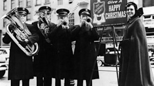 Salvation Army members.