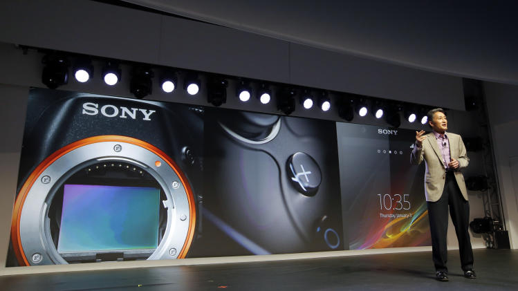 Sony CEO Kazuo Hirai speaks during a news conference at the International Consumer Electronics Show in Las Vegas, Monday, Jan. 7, 2013. The 2013 International CES gadget show, the biggest trade show in the Americas, is taking place in Las Vegas this week. (AP Photo/Jae C. Hong)