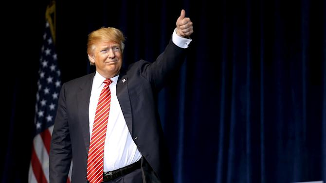 Republican U.S. presidential candidate Donald Trump holds a rally in Baton Rouge