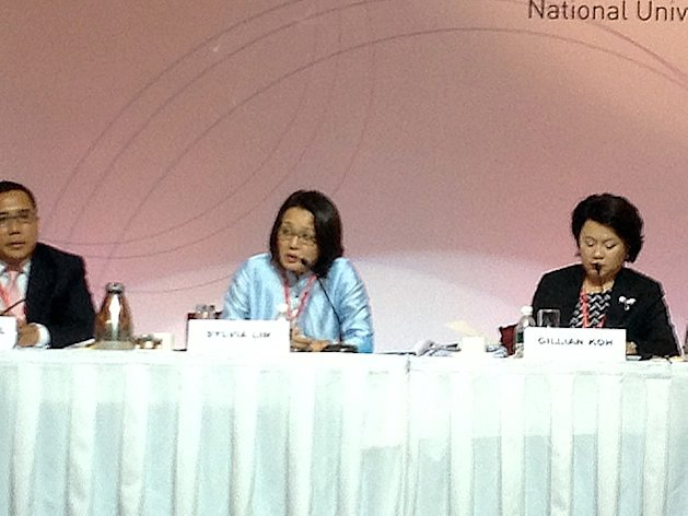WP chairman Sylvia Lim speaking at the Singapore Perspectives conference 2013 on Monday. (Yahoo! photo)