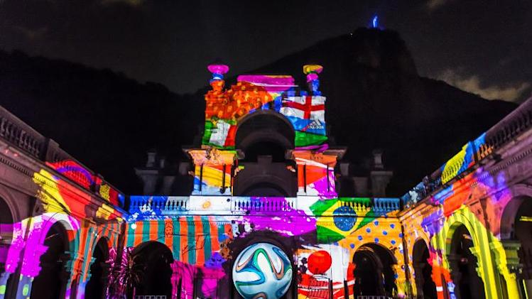 The official football for the Brazil 2014 FIFA World Cup-- is introduced as a projection during its launching in Rio de Janeiro, Brazil, on December 3, 2013