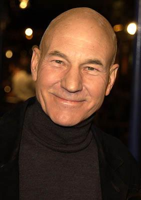 Premiere: Patrick Stewart at the LA premiere of Dreamworks' and Warner Brothers' The Time Machine - 3/4/2002