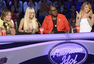 Keith Urban, Nicki Minaj, Randy Jackson, Mariah Carey | Photo Credits: Michael Becker/Fox