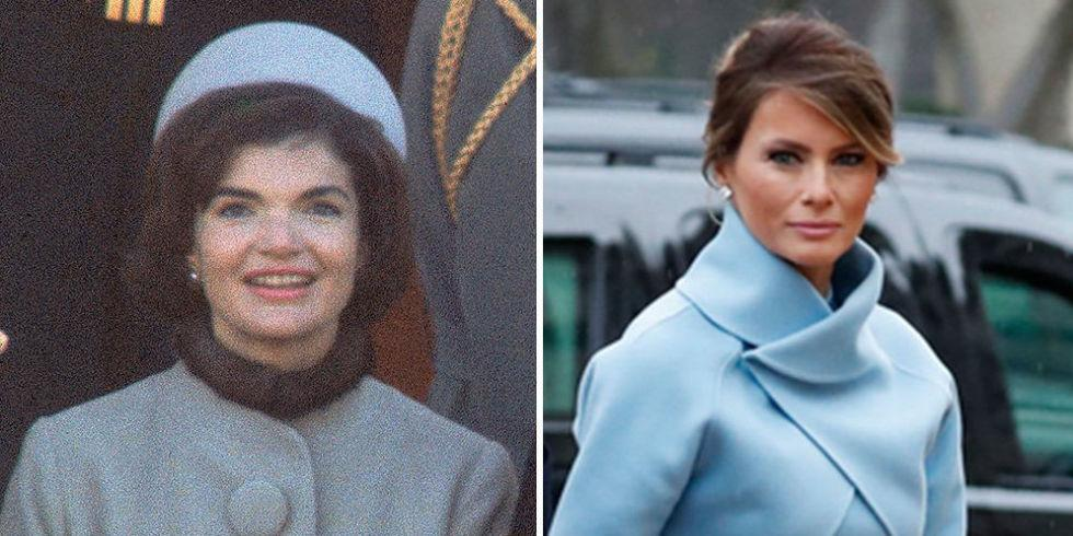 Melania Trump Is Drawing Comparisons to Jacqueline Kennedy on Inauguration Day