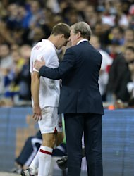 Roy Hodgson, right, has come out in defence of his captain