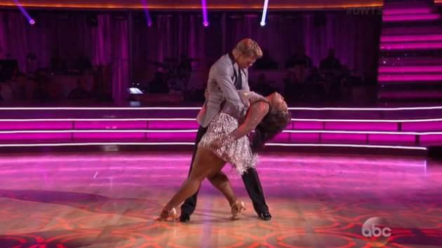 Derek Hough and Amber Riley on 'Dancing with the Stars' -- ABC