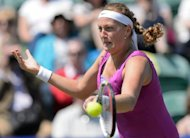 Petra Kvitova at the AEGON International tennis tournament in Eastbourne, southern England, on June 19. She has no titles on the WTA Tour this year and suffered semi-final defeats against Sharapova in the Australian and French Opens