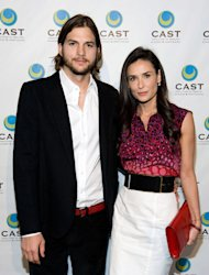 Ashton Kutcher y Demi Moore (Foto: Wireimage)