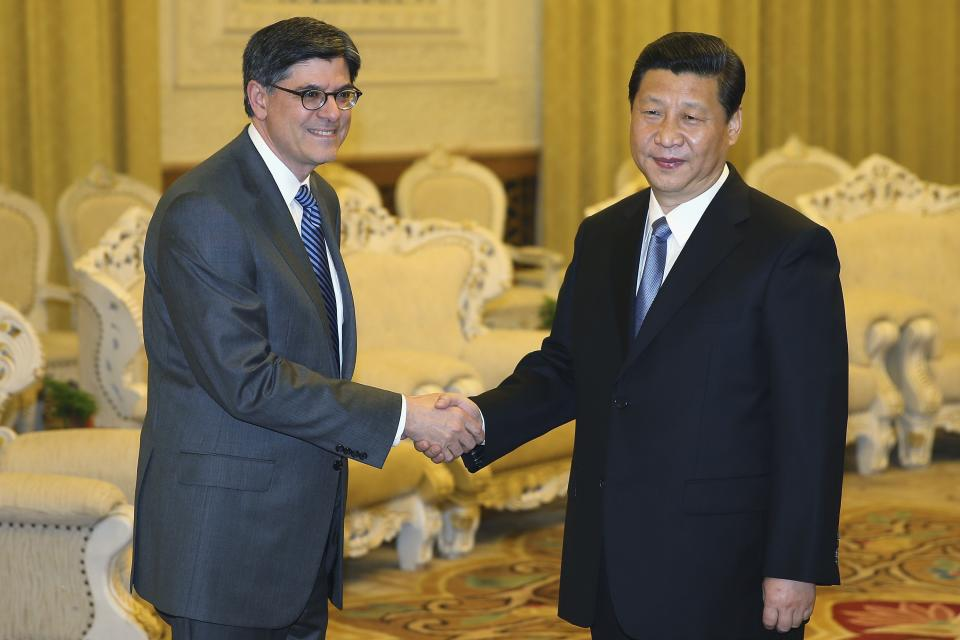 China's leader Xi meets US treasury secretary
