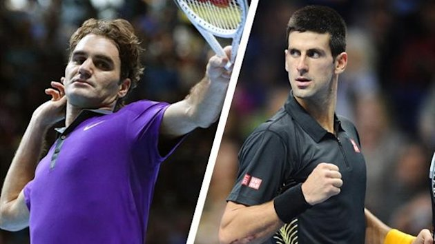 Roger Federer, Novak Djokovic, the ATP World Tour Finals in London