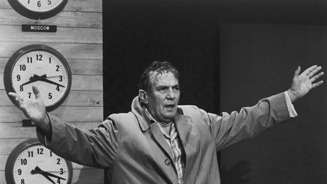 """This 1977 file image provided by United Artists shows Peter Finch as anchorman Howard Beale in a scene from """"Network."""" The Goldman Sachs muppet manifesto — departing executive Greg Smith's lengthy and very public screed against the company's blind pursuit of profits — is only the latest example of taking bridge-burning to an art form. As Beale screamed, """"I'm as mad as hell, and I'm not going to take this anymore,"""" maybe Smith thought it was time to tell the world that Goldman Sachs managing directors referred to their clients as """"muppets."""" (AP Photo/"""