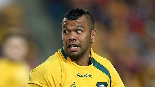 Kurtley Beale, pictured, and Israel Folau will be team-mates at the Waratahs
