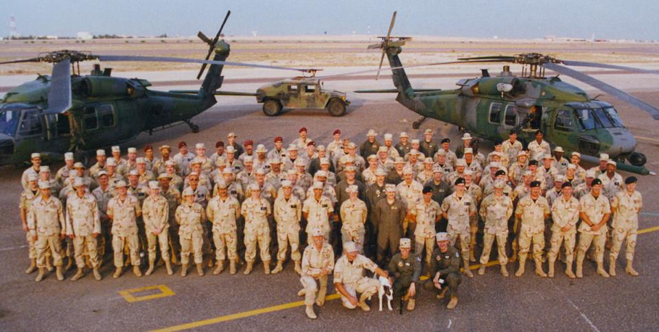 My pararescue squadron in Kuwait City, Kuwait.