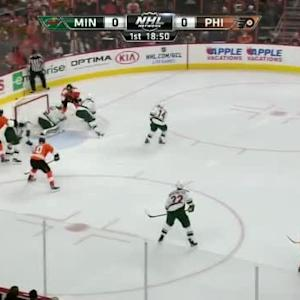 Darcy Kuemper Save on Jakub Voracek (01:11/1st)