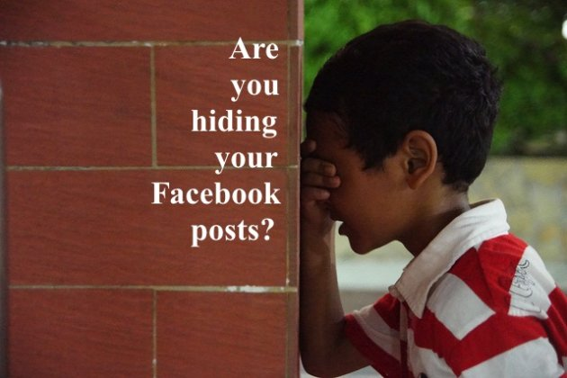Are You Hiding Your Own Facebook Posts? image Facebook Hide And Seek