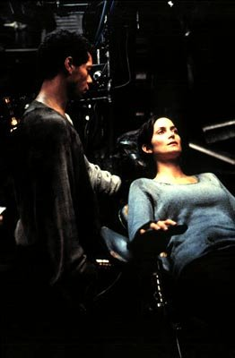 Marcus Chong and Carrie-Anne Moss in Warner Brothers' The Matrix
