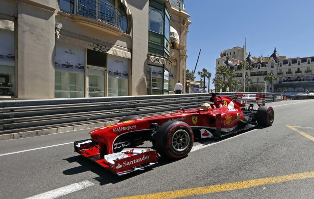 Ferrari Formula One driver Fernando Alonso of Spain drives during the second practice session of the Monaco F1 Grand Prix