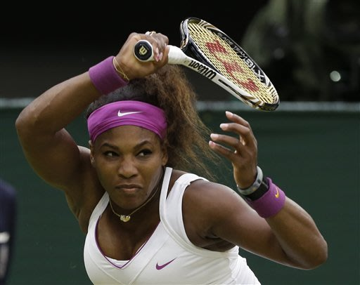 S. Williams beats defending champion at Wimbledon