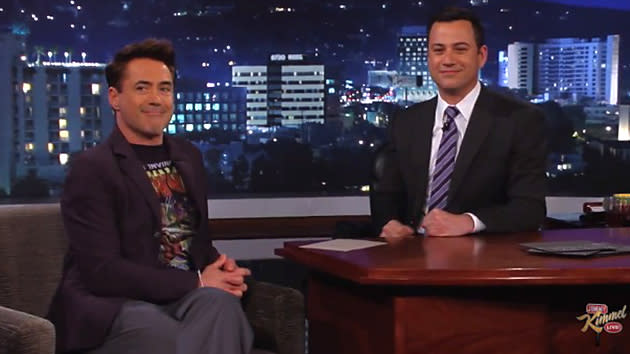 RDJ on Kimmel Blog