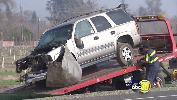 Fatal head on collision near Visalia