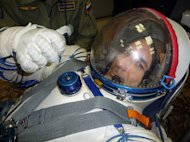 European Space Agency astronaut Luca Parmitano of Italy during Soyuz training in Star City, Russia.
